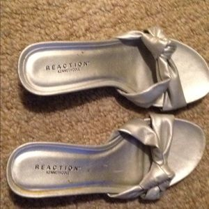 Women's Kenneth Cole REACTION silver sandals 6